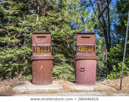 kutu · mavi · kedi · kum · bakım · konteyner - stok fotoğraf © meinzahn