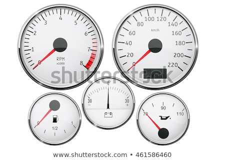 vector car dashboards with tachometer, speedometer and gasoline  Stock photo © freesoulproduction
