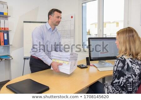 relações · patrão · secretário · escritório · mulheres · trabalhar - foto stock © konradbak
