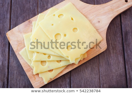 Foto stock: Fatias · queijo · primavera · cebola · comida · prato