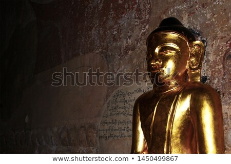 Stone face on wall in Bagan, Myanmar Stock photo © Mikko
