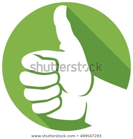 Pulsanti approvazione segno bianco sfondo Foto d'archivio © bluering