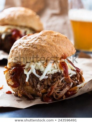 burger and coleslaw salad stock photo © zhekos