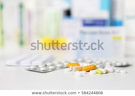 медицинской · группа · желтый · аптека · изолированный · таблетка - Сток-фото © stevanovicigor