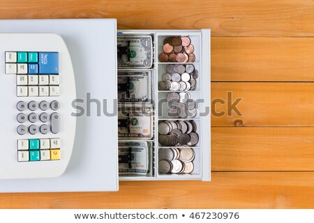 Above view on cash register full of coins Stock photo © ozgur