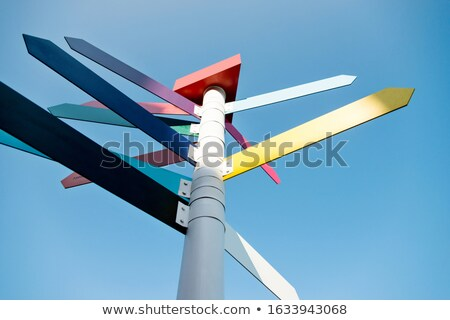 roadsign against blue sky stock photo © amok