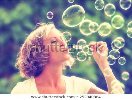 Piękna kobieta krzyż proces efekt piękna młoda kobieta Zdjęcia stock © lubavnel