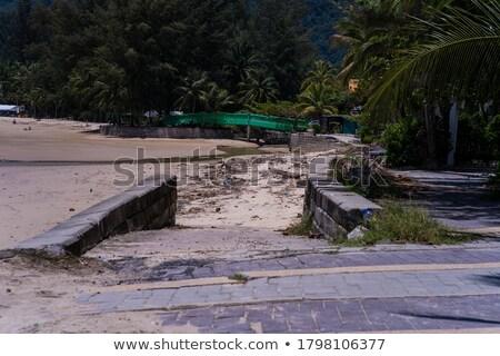 old plastic bottle on beautiful tropical beach stock photo © dutourdumonde