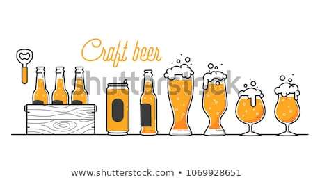 Cerveza pub caligrafía tinta cepillo texto Foto stock © Anna_leni
