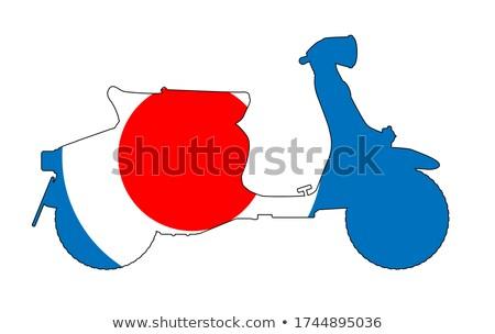 60s scooter and uk symbol stock photo © bigalbaloo