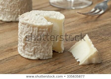 сыра · частей · Сыр · из · козьего · молока · природного · край · чаши - Сток-фото © Digifoodstock