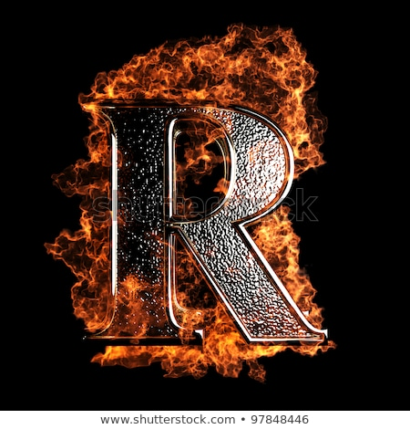 Flame. Fire typography. Burning letters. fiery lettering Stock photo © popaukropa