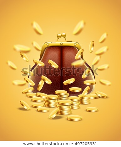 Classic vintage purse with gold coins money Stock photo © LoopAll