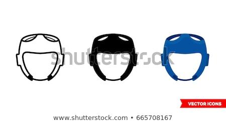 Taekwondo icon in three design Stock photo © bluering