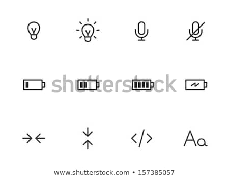 Round icons with batteries charging Stock photo © bluering