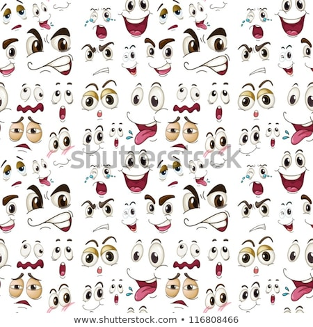 Seamless background with different facial expressions Stock photo © bluering
