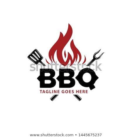 барбекю мяса лет приготовления пламени Кука Сток-фото © rbouwman