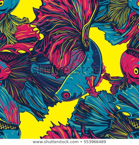 рыбы · сердиться · мало · один · Cartoon - Сток-фото © sifis