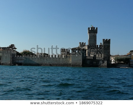 battlement background with blue sky Stock photo © compuinfoto