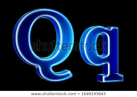 Transparent x-ray letter Q. 3D Stock photo © djmilic