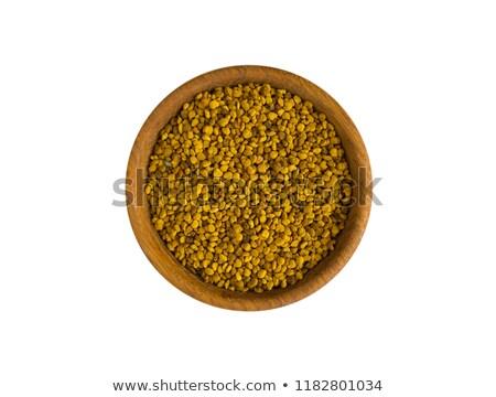 flower pollen in a wooden bowl stock photo © oleksandro