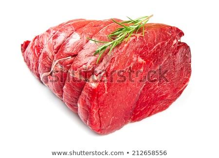 raw roast beef isolated on white Stock photo © M-studio