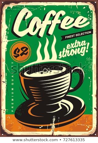 retro coffee labels stock photo © genestro