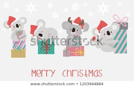 Navidad ilustración funny matrimonio animales celebración Foto stock © adrenalina