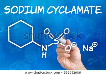 symbool · chemische · element · natrium · hand · technologie - stockfoto © zerbor