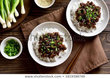 ягненка · басмати · риса · мяса · интерьер · чили - Сток-фото © tycoon