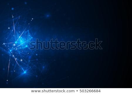 Luz azul tecnologia mínimo abstrato hexágono textura Foto stock © saicle