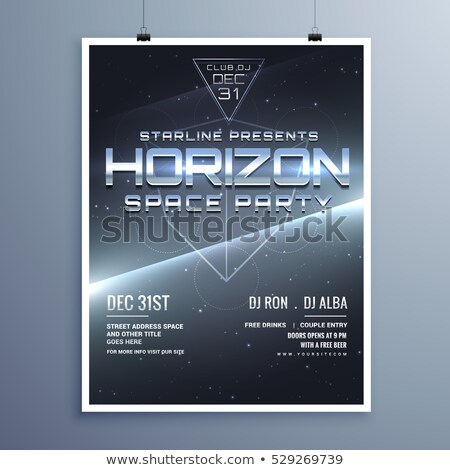 universe style space party music event flyer for new year Stock photo © SArts