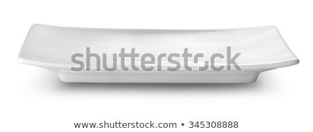 Blanco rectangular plato objeto China nadie Foto stock © Digifoodstock
