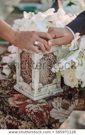 yeni · evliler · kol · bağbozumu · aile · düğün - stok fotoğraf © olgaBurtseva