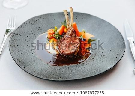 Baranka kotlet marchew żywności mięsa Zdjęcia stock © M-studio