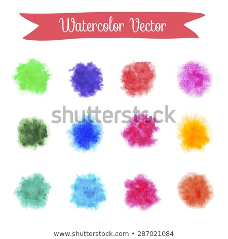 red real watercolor vector stain Stock photo © SArts