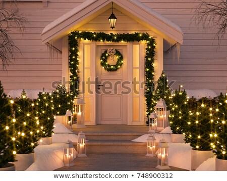 3d визуализации красивой Рождества венок украшение белый Сток-фото © danilo_vuletic