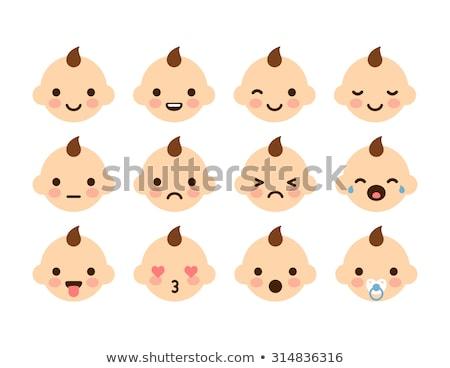 Bebek emzik ikon karikatür stil beyaz Stok fotoğraf © ylivdesign