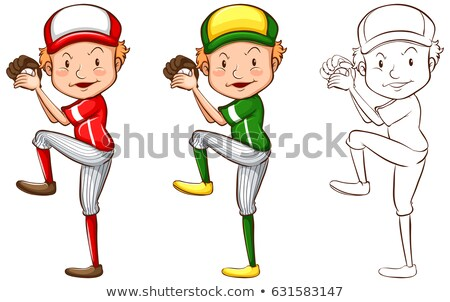 Drafting character for baseball player Stock photo © bluering