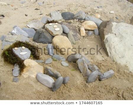 Engraçado pedra praia feliz pedras Foto stock © jagoda