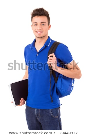 Male Student With Satchel Stock photo © dtiberio