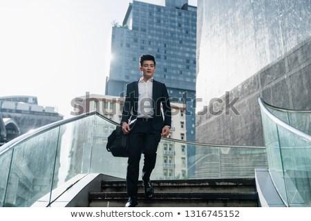 Asia · empresario · caminando · frente · vista - foto stock © szefei