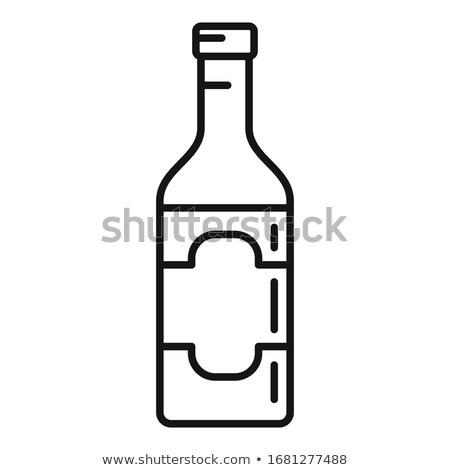 Vino vinagre botella vector Foto stock © Mamziolzi