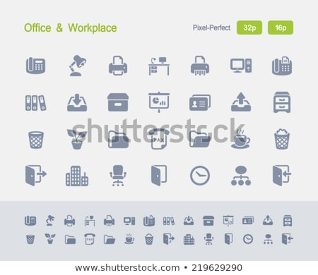 Office Phone - Granite Icons stock photo © micromaniac