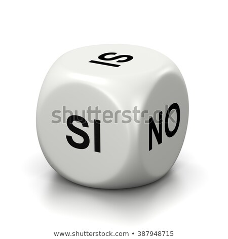 Yes or No White Dice, Spanish and Italian Language Stock photo © make