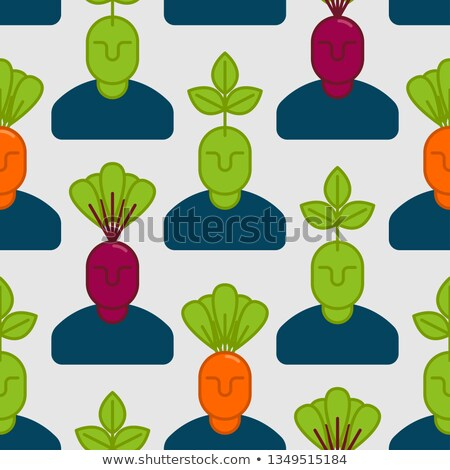 Office vegetables garden. Manager beet . Vegetable Department at Stock photo © popaukropa