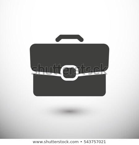 üzlet aktatáska izolált ikon iroda bőrönd Stock fotó © popaukropa