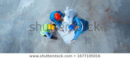 3d · дома · проект · план · шлема · карандашом - Сток-фото © tiero