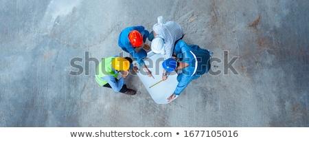 3d · casa · proyecto · plan · casco · lápiz - foto stock © tiero