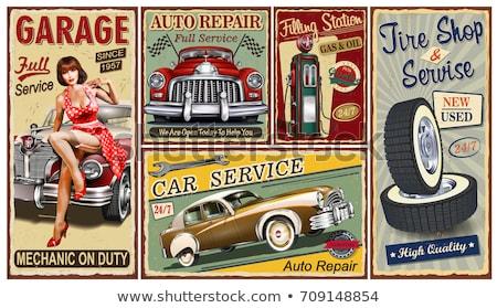 Automático carro assinar conjunto painel de controle interface Foto stock © romvo